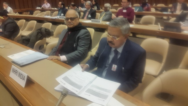 Mr. Justice H.L. Dattu, Chairperson, NHRC, India leads delegation of the Commission to Annual GANHRI and APF Regional Meetings in Geneva, Switzerland from 4th to 7th March, 2019