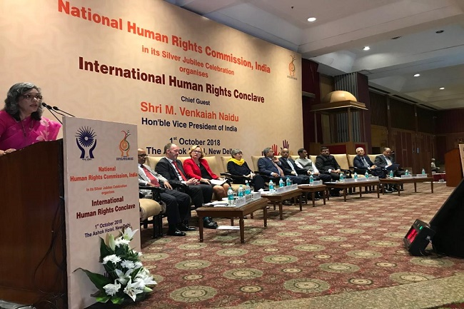 NHRC organized a one day International Human RightsConclave at The Ashok Hotel, New Delhi on 1st October, 2018.