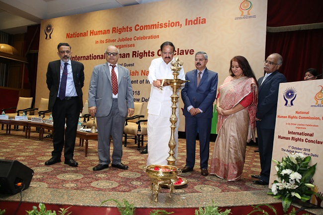NHRC organized a one day International Human Rights Conclave at The Ashok Hotel, New Delhi on 1st October, 2018.