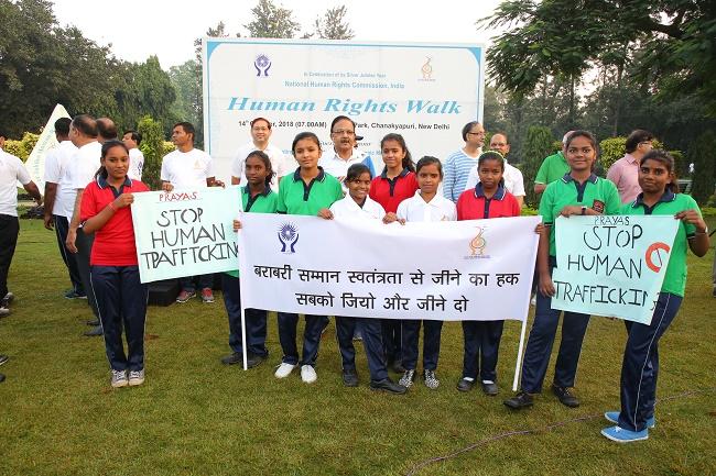 NHRC organized the 'Human Rights walk' at Nehru Park, New Delhi on 14.10. 2018.