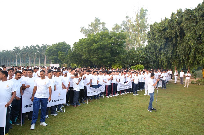 NHRC organized the 'Human Rights walk' at Nehru Park, New Delhi on 14.10. 2018.