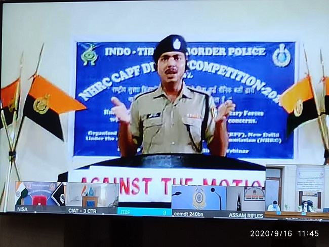 NHRC organised the Inter CAPFs annual debate competition on human rights alongwith RPF as nodal agency (16.09.2020)