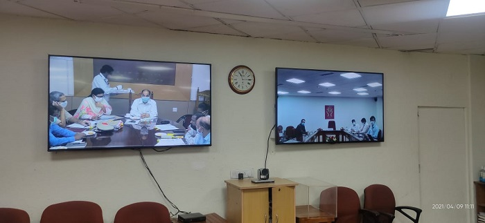 Video conferencing with Odisha State Senior Officers (09.04.2021)