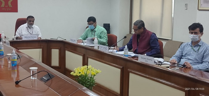 Video Conferencing with Senior Officers of Uttar Pradesh State (08.04.2021)